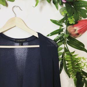 Lane Bryant Tops - Lane bryant navy pleated duster cardigan sz 18/20